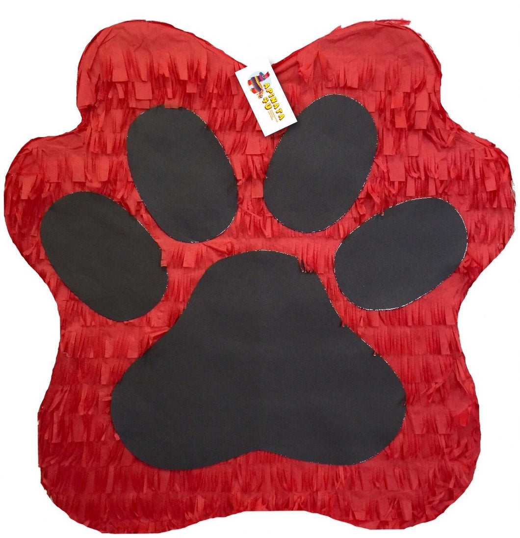 Red & Black Paw Print Pinata 19