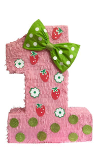 "Strawberry Theme Number One Pinata 23"" Tall"