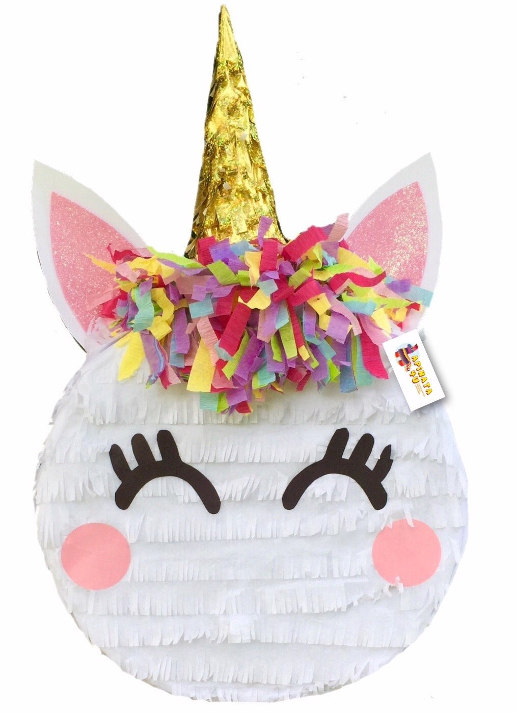 APINATA4U Small Unicorn Pinata Round Shape