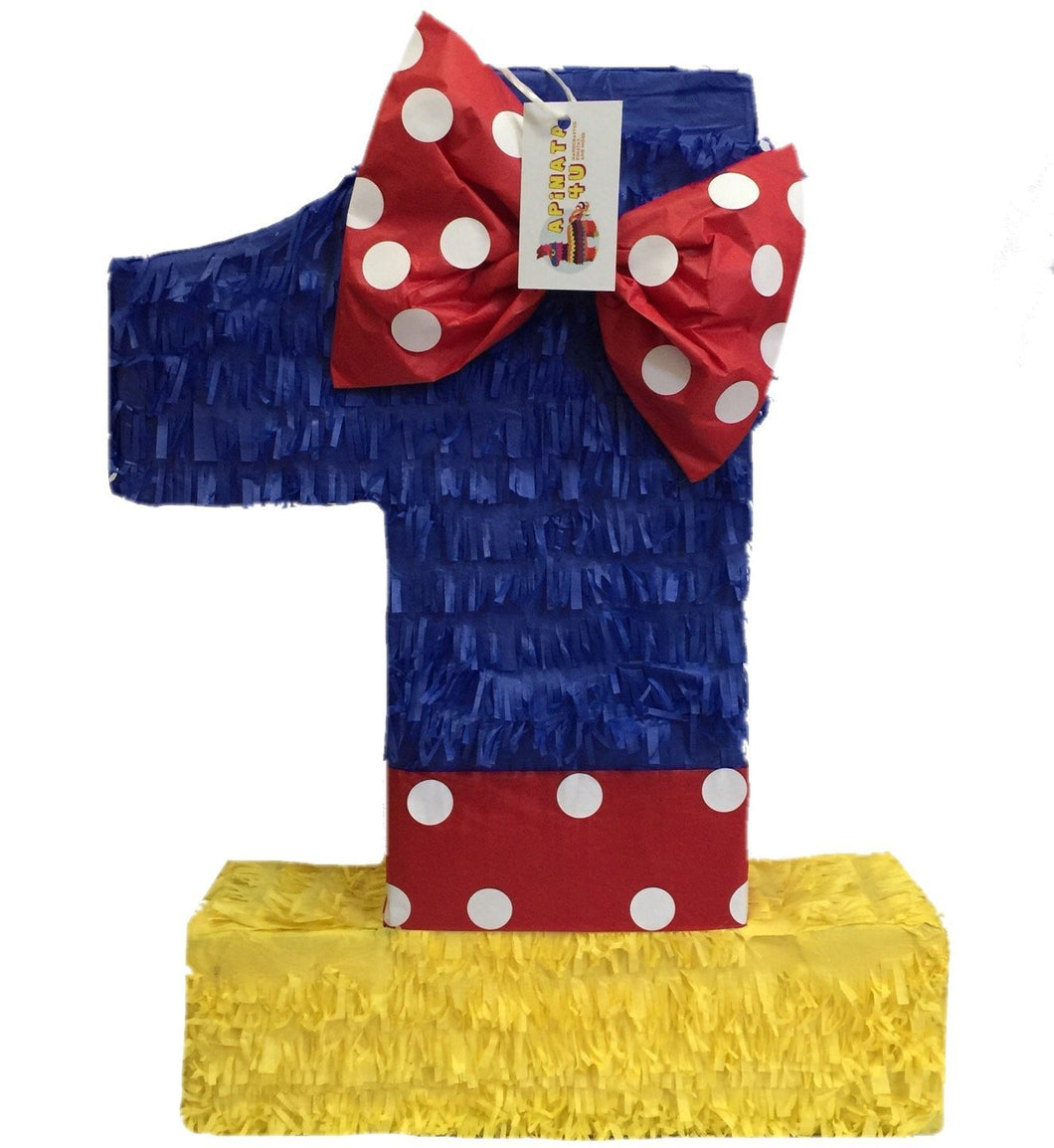 Multi-Color Number One Pinata Princess Theme