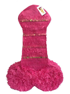 "Ready to Ship Pecker Pinata 24"" Adult Gag Gift Hot Pink and Gold"
