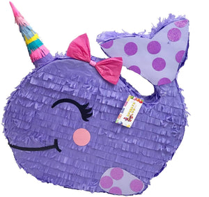 Large Narwhal Pinata Lavender Color Lavender Theme Birthday Party
