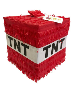APINATA4U Cube TNT Pinata Red Color
