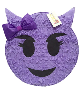 Purple Sneaky Emoticon Pinata 16""