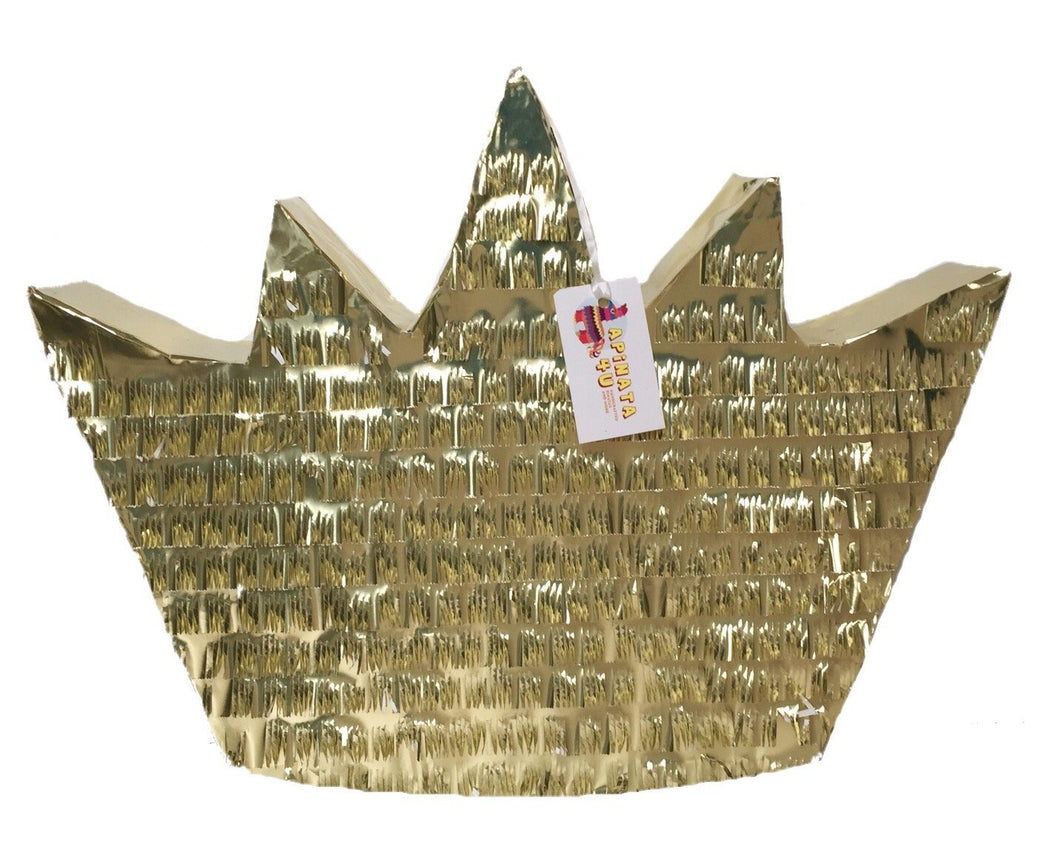 APINATA4U Gold Crown Pinata