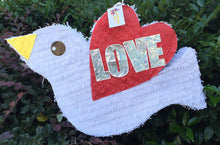 Load image into Gallery viewer, White Dove Red Wing Wedding Pinata LOVE