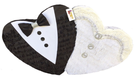 APINATA4U Double Heart Pinata For Weddding.
