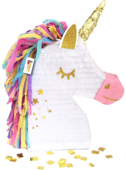 Apinata4u Unicorn Pony Pinata with Gold Star Accents Unicorn Themed Birthday Pinata