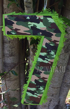 "Load image into Gallery viewer, Woodland Camouflage Number One Pinata  20"" Tall Camo Theme Party"