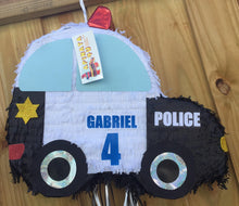 Load image into Gallery viewer, Sale! Personalized Police Car Theme Pinata