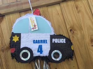 Sale! Personalized Police Car Theme Pinata