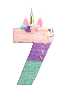 Sale! Unicorn Pinata Number Seven Shape More Numbers Available