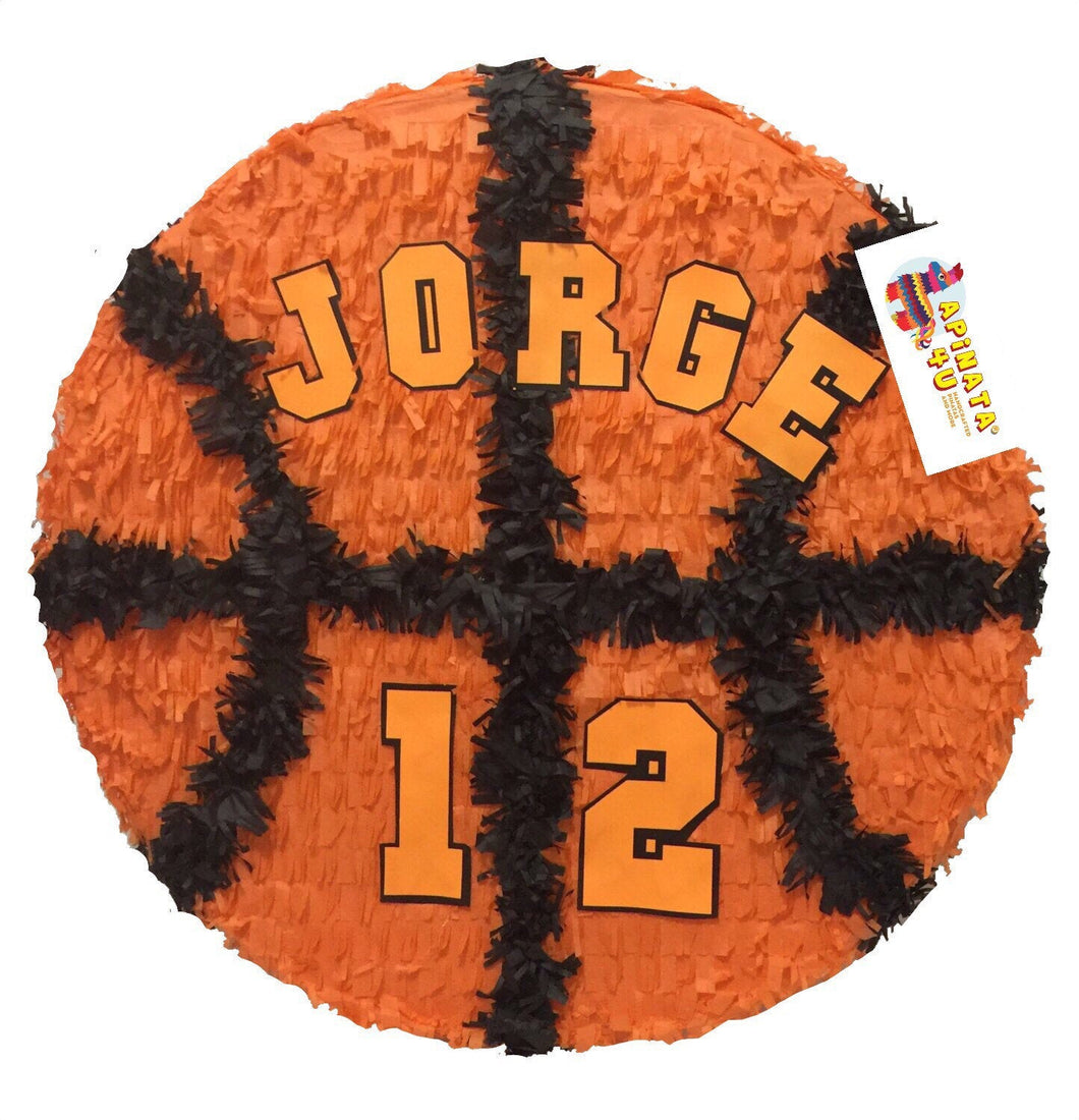 Large 2-D Personalized Basketball Pinata 19""