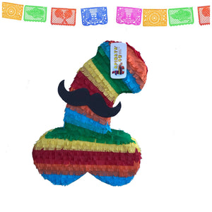 "ADULT PINATAReady to Ship Fiesta Penis Pinata 24"" Tall Bachelorette Pinata Pecker Adult Gag Gifts"