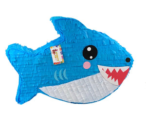 Sale Ready to Ship Large Shark Pinata Blue Color Shark Themed Birthday Party