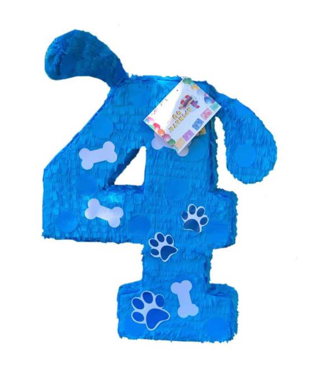 Large Number Puppy Theme Piñata Pinata Blue Color