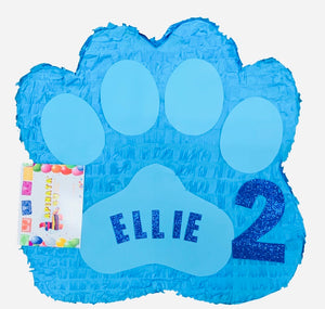 "Puppy Paw Piñata Pinata 19"" Tall Blue Color"