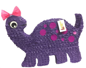 Large Dinosaur Piñata Dino Themed Birthday Party Dinosaur Party Supplies Dino Photo Prop Purple Dino