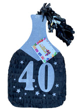 Load image into Gallery viewer, Champagne Bottle Piñata 40th Birthday Over The Hill Party Oh Sh*t You Are Old Themed