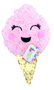Cotton Candy Pinata Pink & Gold Color Candy Themed Birthday Party Candy Party Decoration Photo Prop