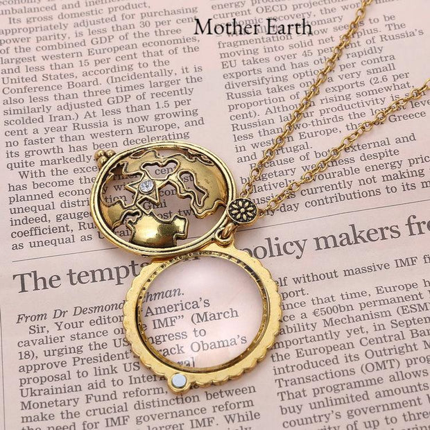 Bronze magnifying glass pendant necklaces magnifies 5x 8 designs bronze magnifying glass pendant necklaces magnifies 5x 8 designs tree of life aloadofball Images