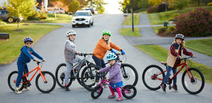 Kids riding Cleary Bikes