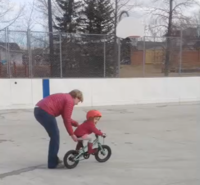 Teaching your little one to ride