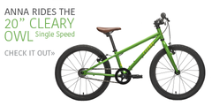 "Cleary Owl 20"" child bike in green - from Kids Bikes Canada"