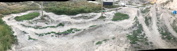 Kamploops pump track at the bike ranch, great for kids