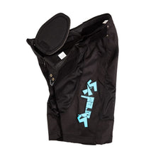 ShredXS Youth Downhill Mountain Bike Short with hip pad in Black, side view