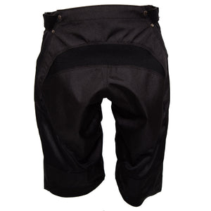 ShredXS Youth Downhill Mountain Bike Short in Black, rear view
