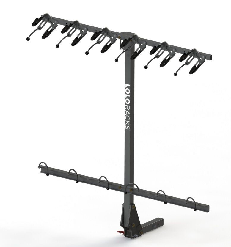 Lolo Rack - The best 6 bike vertical rack in grey