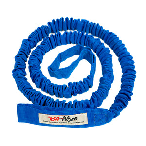 Winter TowWhee. 4 season blue tow strap for skiing or mountain bike.