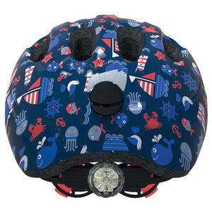 ABUS girl boy little kids helmet back with dial blue fish