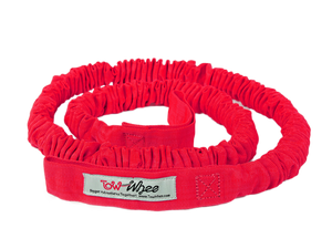 TowWhee Bike bungy tow strap red - best bike tow device