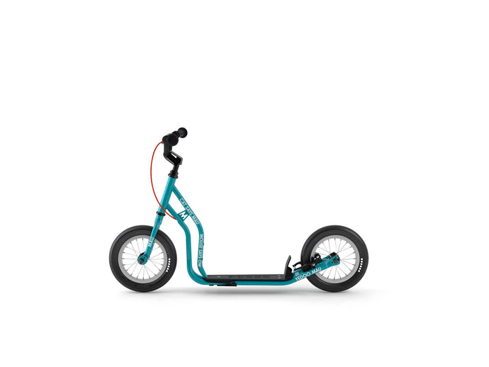 Teal Blue Yedoo kids scooter, kick bike with air tires