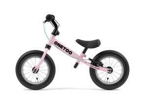 Yedoo Onetoo balance bikes for kids. Candy Pink run bike with air tires