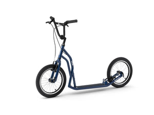 Blue adult S1616 Yedoo scooter, kickbike 3/4 view