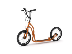 Orange adult S1616 Yedoo scooter, kickbike