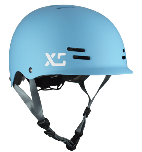 Kids and adults bike and skateboard helmet Steel Blue - by XS Unified