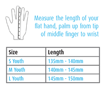 Shred XS Youth Bike Glove Size Chart