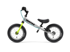 Aluminum Yedoo YooToo child's balance bike lime green fork - similar to Strider run bike for kids
