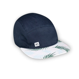 navy tropical 5 panel adult hat by XS Unified