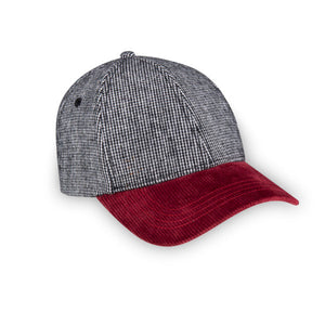 herringbone maroon classic adult hat by XS Unified