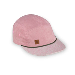 Pink corduroy 5 panel kids hat by XS Unified