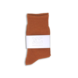 Copper Sparkle sock by XS Unified