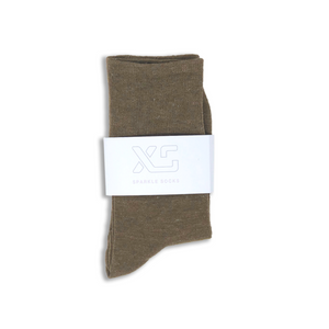 Taupe Sparkle sock by XS Unified