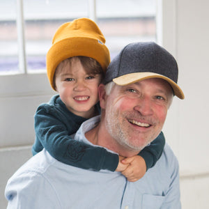 wool classic adult hat by XS Unified on Man with child