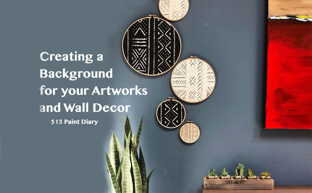 Creating a Background for Your Artworks and Wall Deco