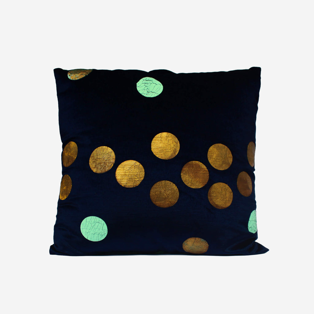 513 Artizen Range | L'Alchemist Collection - Gold Polka Dot Cushion